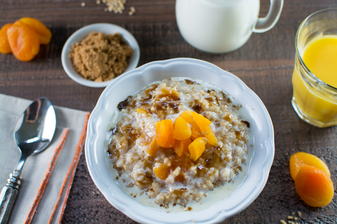 Butter Toasted Apricot Oatmeal