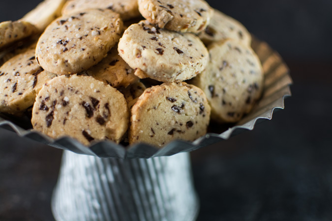 Almond Olive Oil Sable Cookies With Chocolate