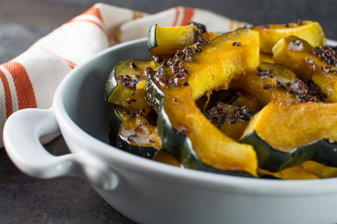 Roasted Squash With Brown Butter Nibs